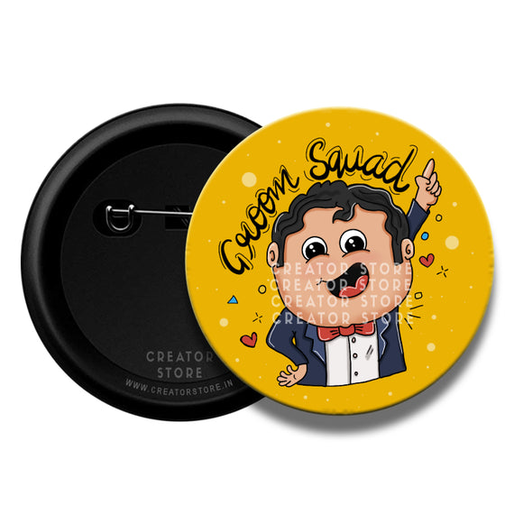 Bride Squad Wedding Pinback Badges