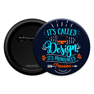 Passion for design Button Badge