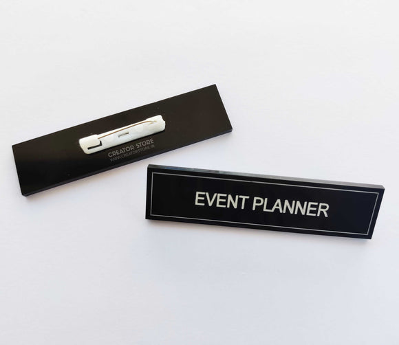 Event Planner Acrylic Engraved Name Badge