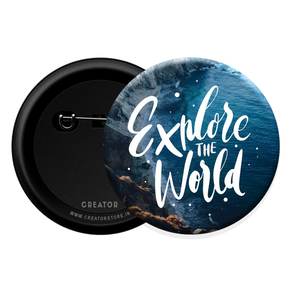 Explore the world Button Badge