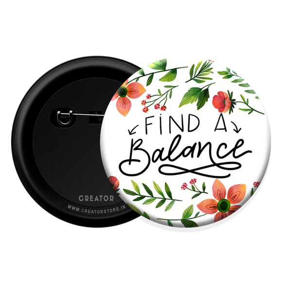 Find a Balance Button Badge