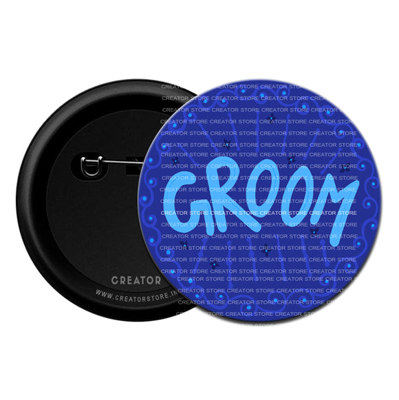 Groom Wedding Pinback Button Badge