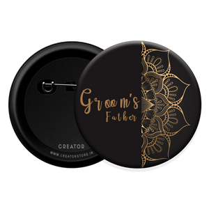 Groom's father wedding Button Badge
