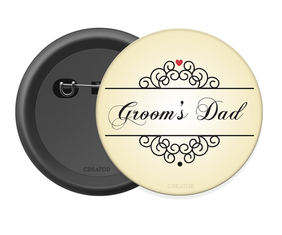 Groom's dad Button Badge