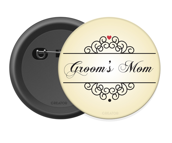 Groom's mom Button Badge