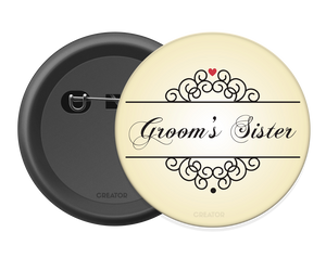 Groom's sister Button Badge