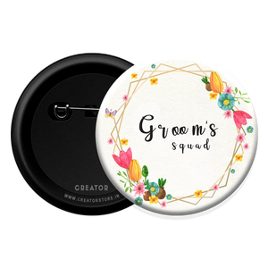 Groom squad wedding Button Badge