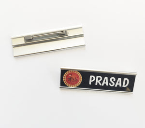 Silver Base Custom Name Badge