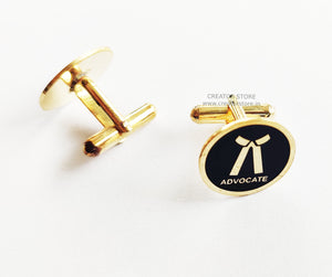 Advocate Gold color Cufflink