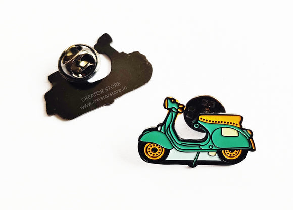 Scooter Enamel Pin