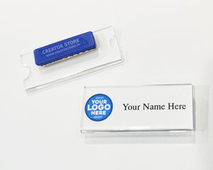 Acrylic Custom made Magnetic Name Badge
