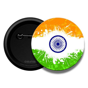 India Flag Pinback Button Badge