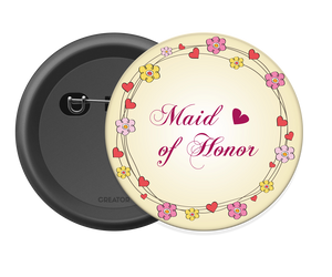 Maid of Honor Button Badge