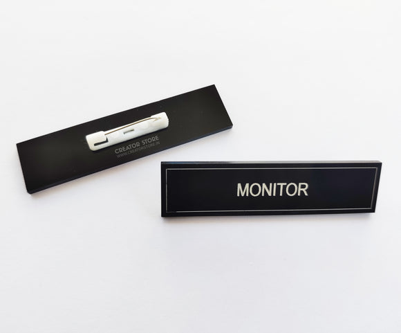 Monitor Acrylic Engraved Name Badge