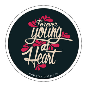 Young at Heart Laptop Sticker
