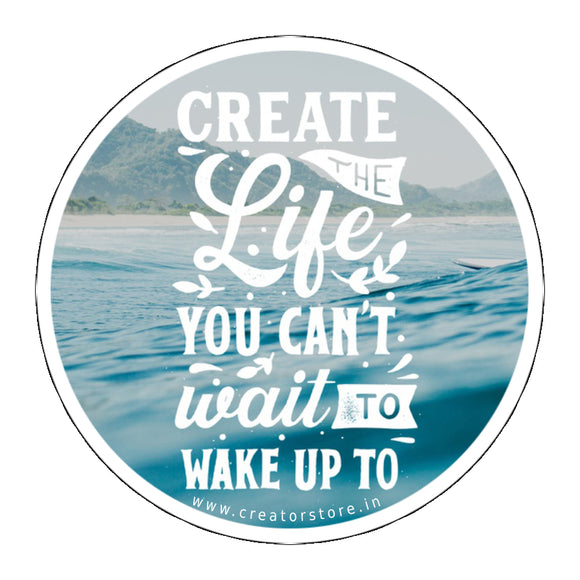 Create Life Laptop Sticker