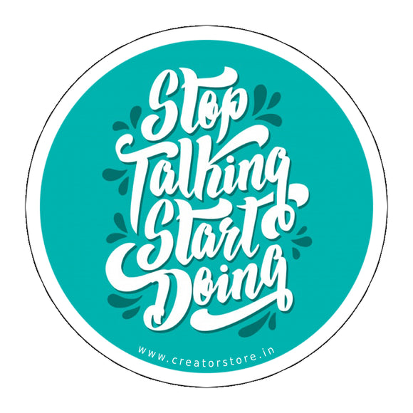 Start doing Laptop Sticker