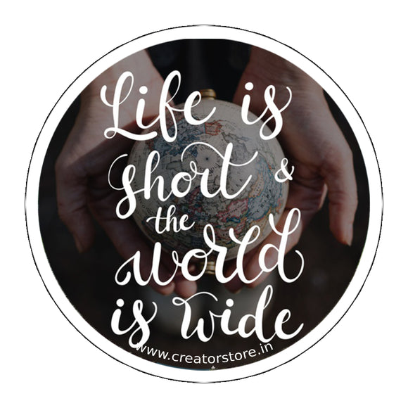 Life is short Laptop Sticker