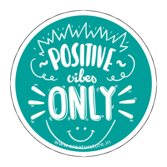 Positive vibes Laptop Sticker