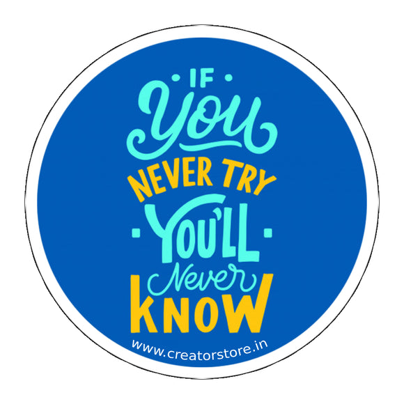 Try Laptop Sticker