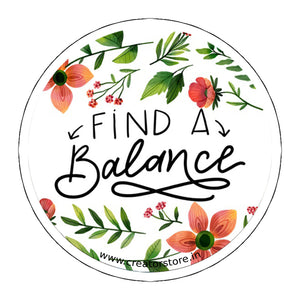 Find a Balance Laptop Sticker