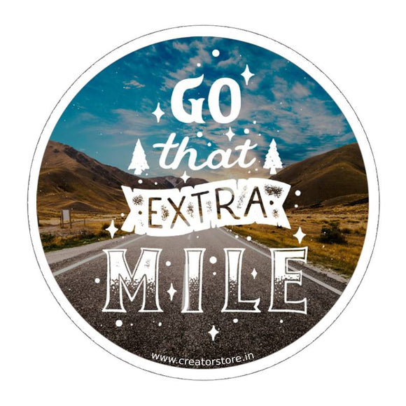 Extra Mile Sticker