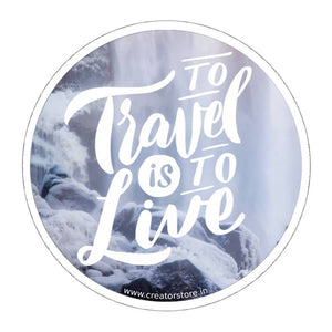 Travel is to Live Sticker