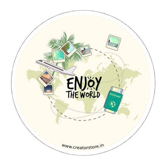 Enjoy the world Sticker