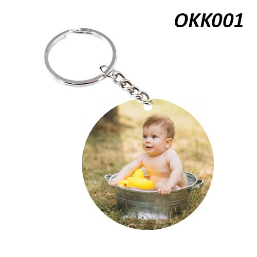 Circular photo Keychain