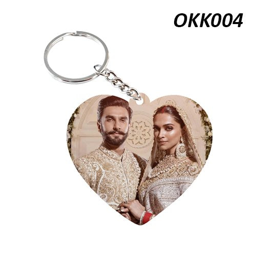 Heart shape photo Keychain