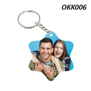 Star shape photo Keychain