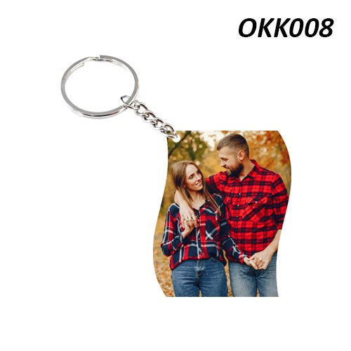 Rectangle shape photo Keychain
