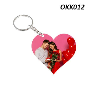 Heart photo Keychain