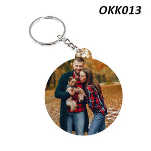 Circle photo Keychain