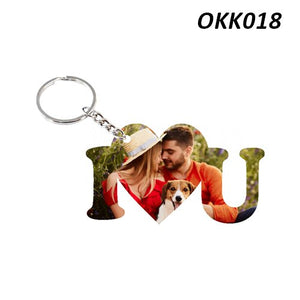 I Love you Photo Keychain
