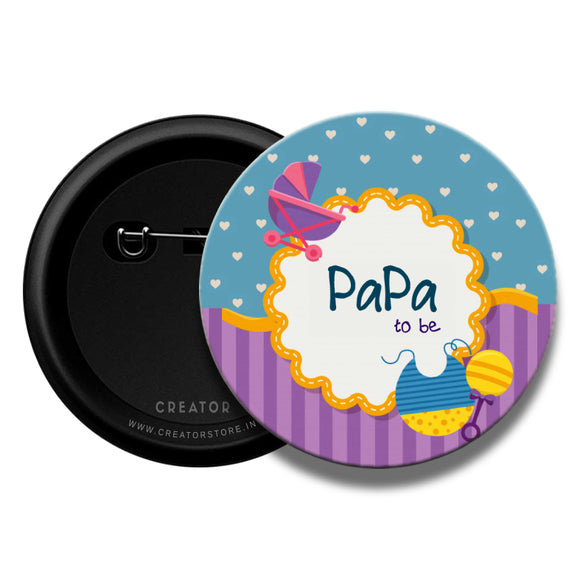 Papa to be Baby shower Pinback Button Badge