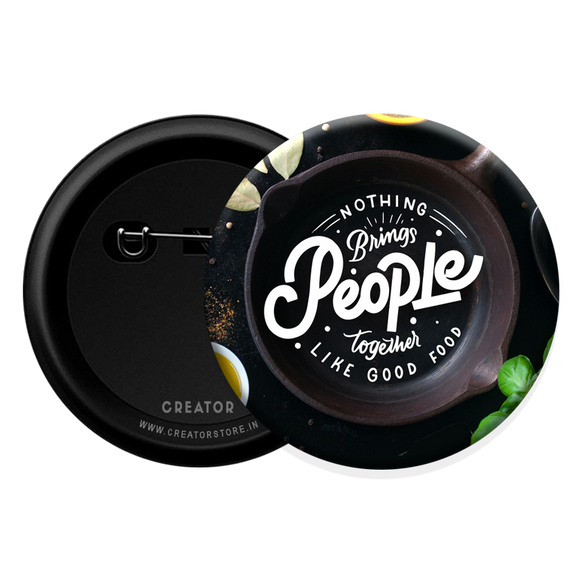 Bring people together Button Badge