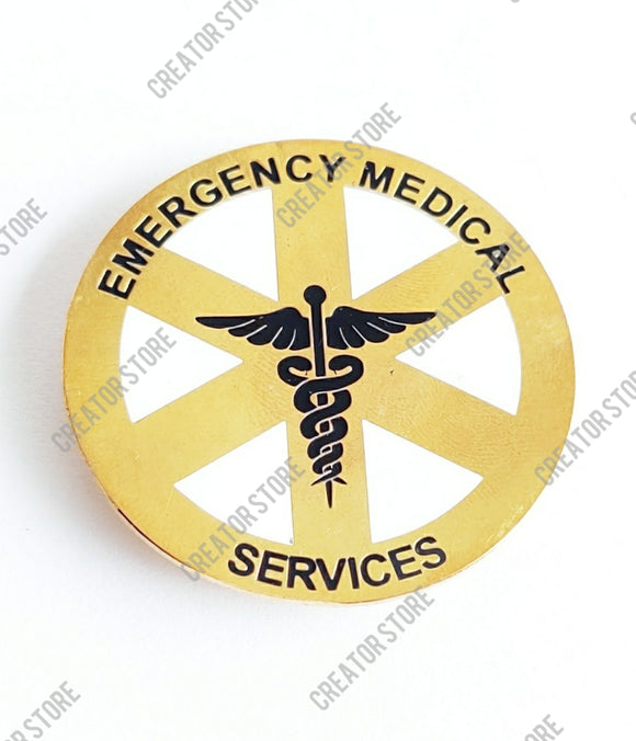 Medical Service Round Doctor Enamel Badge - Pack of 50