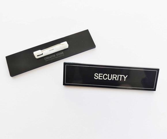 Security Acrylic Engraved Name Badge