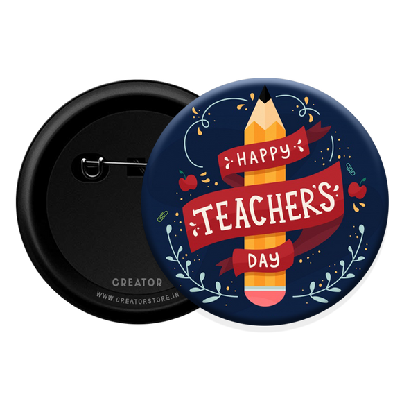 Happy teachers day Button Badge