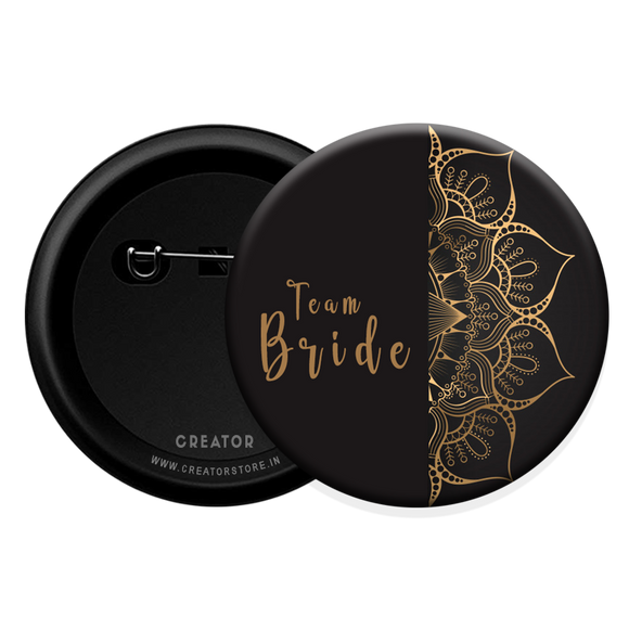 Team Bride wedding Button Badge