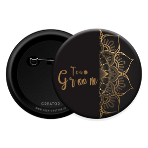 Team Groom wedding Button Badge
