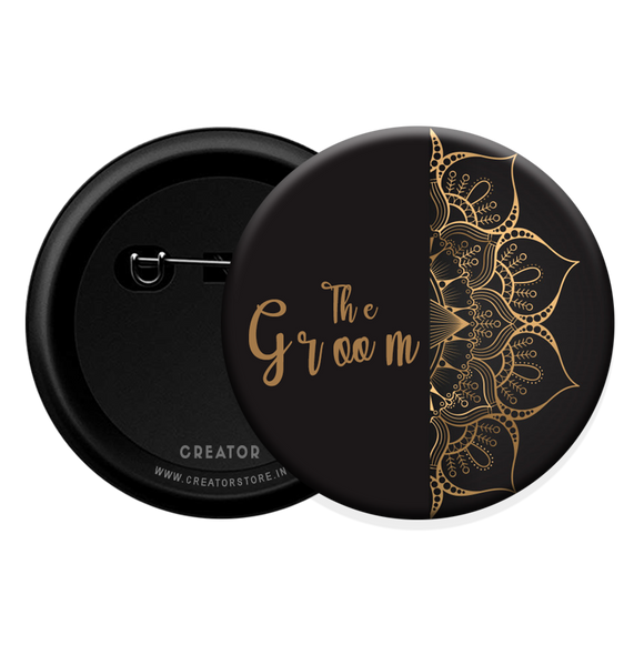 The Groom wedding Button Badge