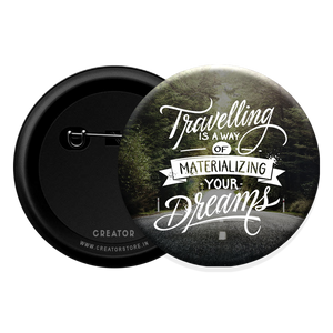 Travelling Button Badge