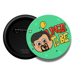 Uncle to be Baby shower Pinback Button Badge