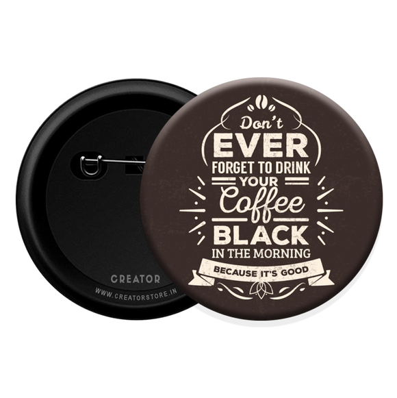 Coffee Button Badge