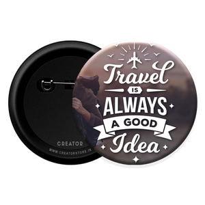 Travel Button Badge