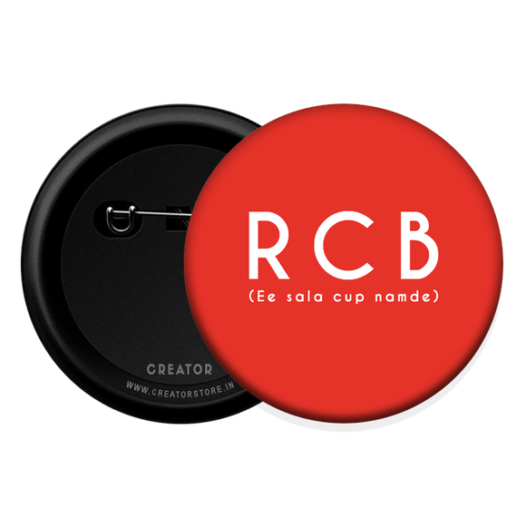RCB IPL Button Badge