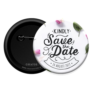 Save the date Button Badge