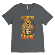 "teelaunch T-shirt Canvas Mens V-Neck / Asphalt / S Brute Leroy - ""Master Of The Grow"" 
